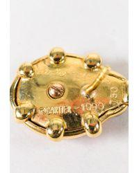 Cartier - Multicolor Vintage Red & Black 18k Yellow Gold & Enamel Ladybug Stud Earrings - Lyst