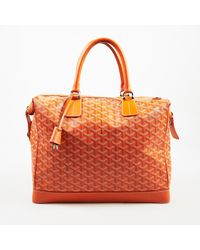 "Goyard Orange ""victoria"" Pm Ine Coated Canvas Bag"