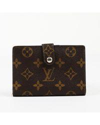 "Louis Vuitton Brown Vintage Monogram Coated Canvas ""french Purse"" Wallet"