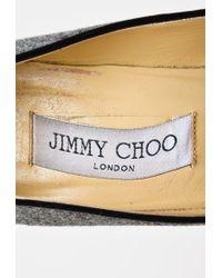 0c46dc3ac8b8 Jimmy Choo Grey Flannel Black Patent Cap Toe