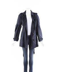 Burberry Blue Brit Belted Trench Jacket