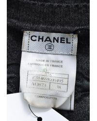 Chanel Spring 2007 Gray Wool Short Sleeve Peplum Top