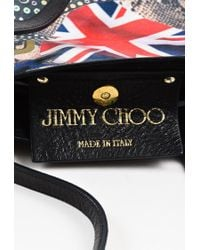 """Jimmy Choo Black Multicolor Coated Canvas Printed """"project Pep"""" Tote Bag"""