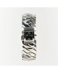Dior Metallic Stainless Steel & Crystal Watch