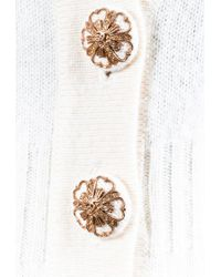 Chanel Fall 2007 White Cashmere Long Buttoned V Neck Cardigan