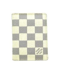 Louis Vuitton Multicolor Damier Azur Pocket Organizer Card Case