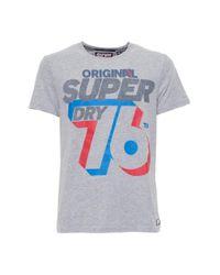 Superdry Gray T Shirt for men