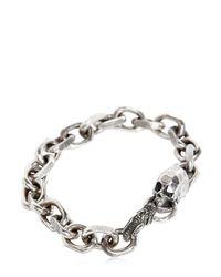 Emanuele Bicocchi | Metallic Skull Chain Bracelet | Lyst