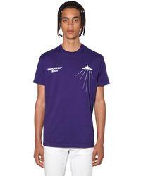 メンズ DSquared² コットンジャージーtシャツ Purple