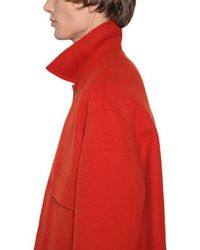 メンズ AMI ウール&カシミア カジュアルジャケット Red