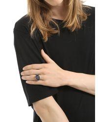 Jade Jagger - Metallic Chevron Shield Cocktail Ring for Men - Lyst