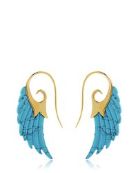 Noor Fares - Blue Fly Me To The Moon Wing Earrings - Lyst