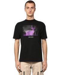 Palm Angels T-Shirt mit Hirsch-Print in Black für Herren