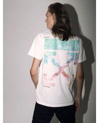 """T-Shirt """"Lvr Exclusive"""" In Cotone di Off-White c/o Virgil Abloh in White da Uomo"""