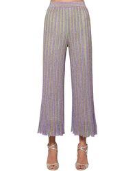 Pantaloni Cropped In Lurex di Missoni in Multicolor