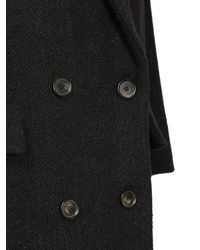 Étoile Isabel Marant Ojima ウールブレンドオーバーサイズコート Black