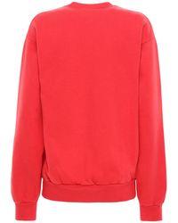 Sporty & Rich Wellness コットンスウェットシャツ Red