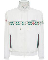 メンズ CASABLANCA ナイロントラックジャケット White