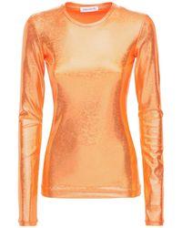 "Saks Potts Orange Shirt Aus Schimmerndem Stretch-jersey ""saya"""