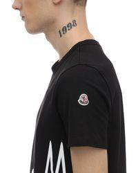 メンズ Moncler コットンジャージーtシャツ Black