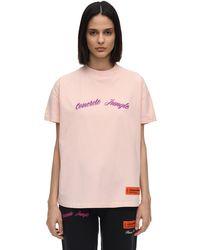 Heron Preston コットンジャージーtシャツ Pink