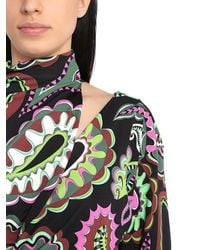 Emilio Pucci - Gray High Collar Printed Shirt - Lyst