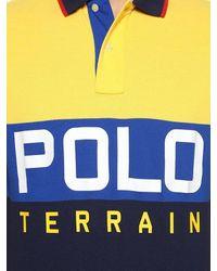 メンズ Polo Ralph Lauren コットンピケポロシャツ Orange