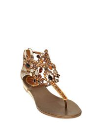Rene Caovilla Metallic 20mm Calf & Swarovski Sandals