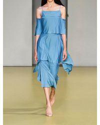 Ferragamo レイヤードジャージードレス Blue
