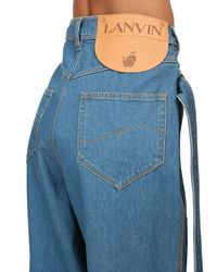 Lanvin デニムワイドレッグパンツ Blue
