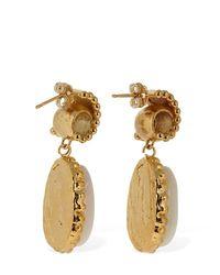 Elise Tsikis Metallic Pylea Shell Drop Earrings