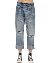 R13 Blue Jeans Aus Baumwolldenim Mit Rissen