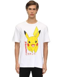 Criminal Damage Pikachu Cotton Jersey T-shirt in White für Herren