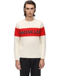 メンズ Moncler Genius ウールニットセーター White