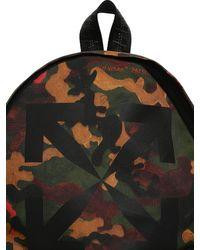Off-White c/o Virgil Abloh Multicolor Print Camo Arrow Tech Canvas Backpack for men