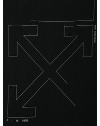 T-Shirt Oversize En Coton Imprimé Off-White c/o Virgil Abloh pour homme en coloris Black