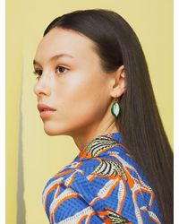 Aurelie Bidermann Green Merco Laque Vert Mono Earring