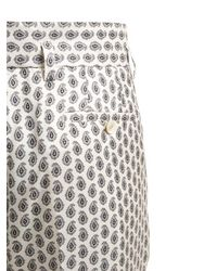 Etro Multicolor Wide Leg Silk Pajama Pants