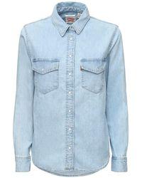 Levi's コットンデニムシャツ Blue