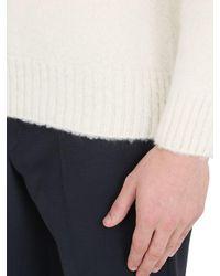 Drumohr Black Brushed Lambswool Sweater for men