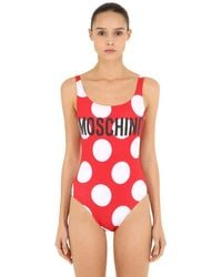 Moschino 水玉 ワンピース水着 Red