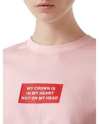 Burberry The Crown コットンジャージーtシャツ Pink
