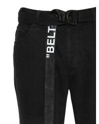 Off-White c/o Virgil Abloh Enge Jeans Aus Baumwolldenim Mit Gürtel in Black für Herren