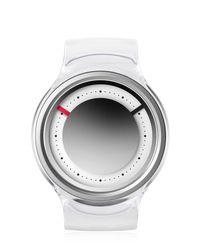 ZIIIRO Metallic Eon Chrome Watch for men