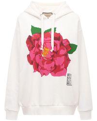 Gucci Flower コットンジャージーフーディー White