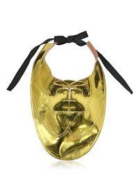 Maison Margiela Metallic Plastron Oxford Necklace