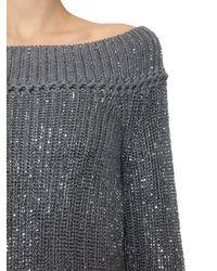 Ermanno Scervino Gray Sweater Aus Wollstrick