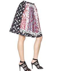 Peter Pilotto Pink Emma Waffle Silk Skirt