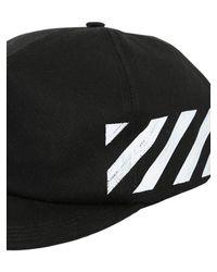 Off-White c/o Virgil Abloh Black Printed Cotton Canvas Baseball Hat for men