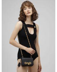 Versace Icon ミニ レザーバッグ Black
